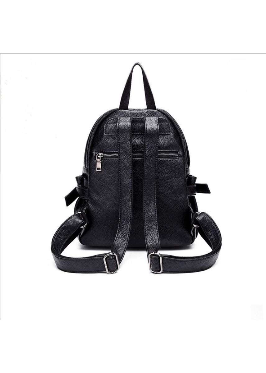 ดำ color เป้สะพายหลัง . Leather backpack fashion ladies backpack -