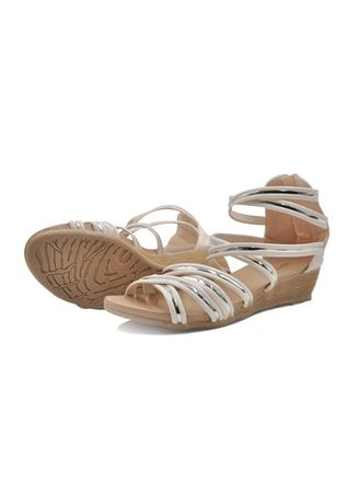 Beige color Sandals and Slippers . Khoee Women's Wedge Sandals -