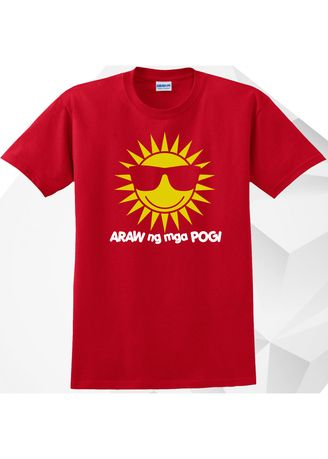 Red color  . AC Prints Unisex Printed T-shirt -