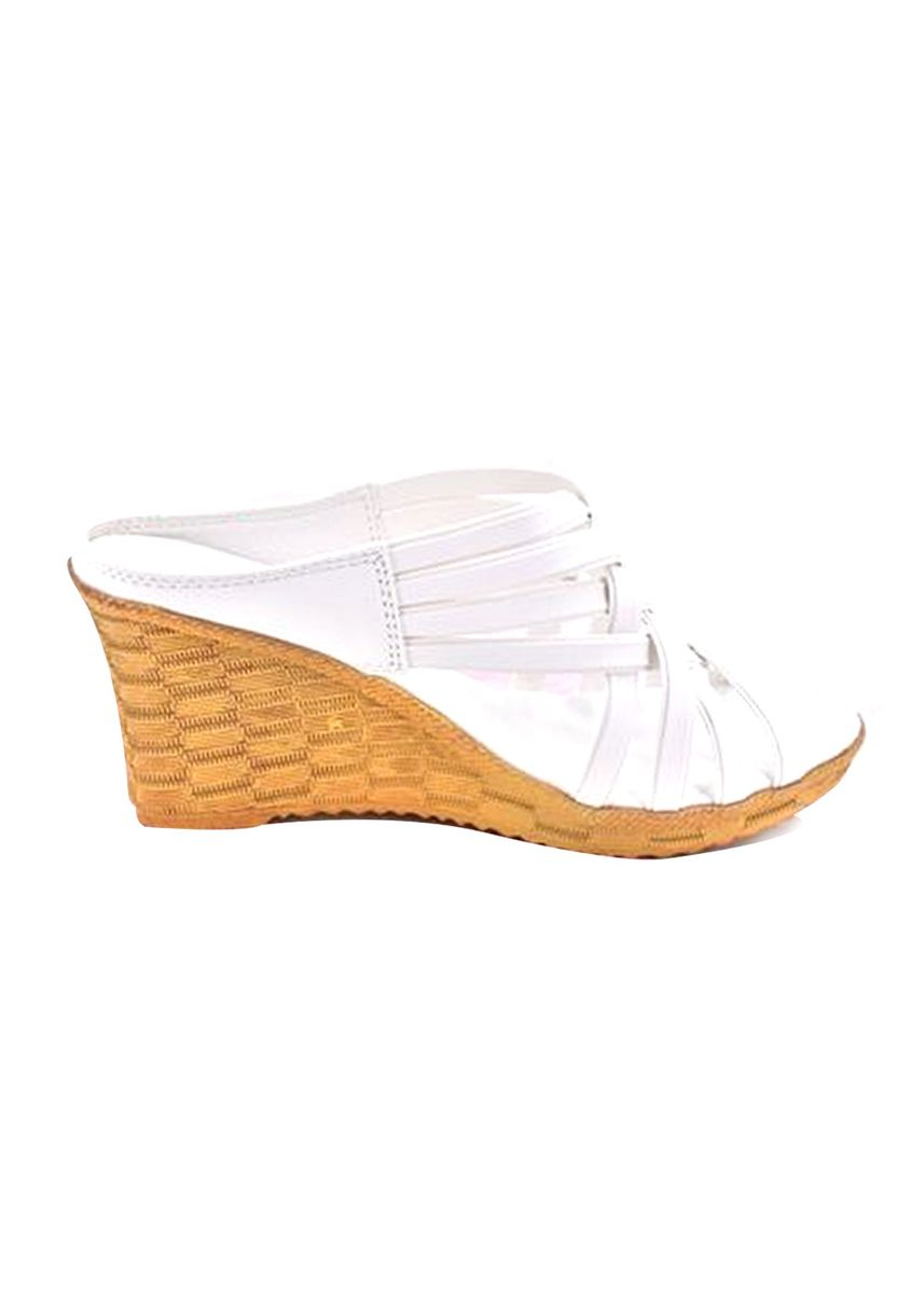 White color Heels . Khoee Women's Claire Fashionable Slip On Wedge -