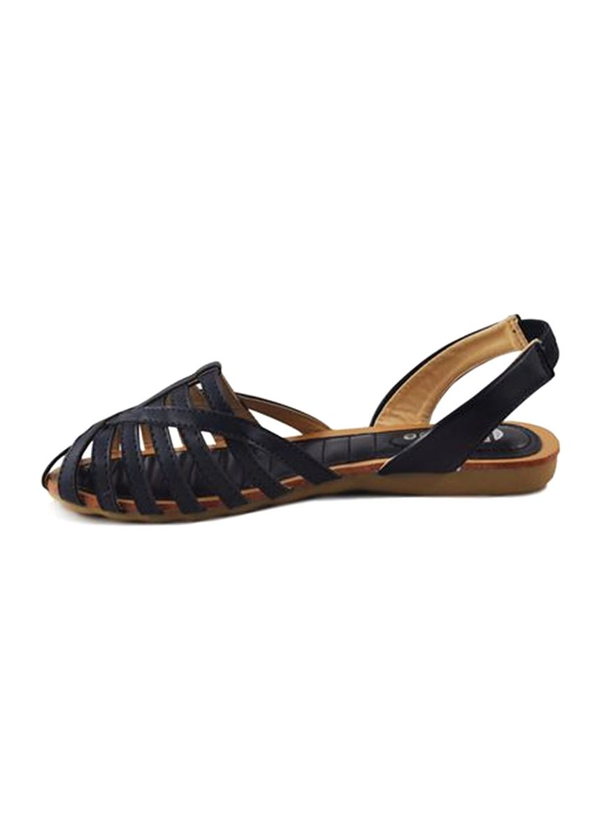 Navy color Sandals and Slippers . Khoee Women's Fashion Sandals -
