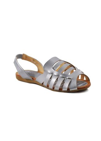 Silver color Sandals and Slippers . Khoee Women's Fashion Sandal -