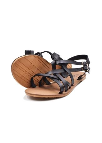 Black color Sandals and Slippers . Khoee Women's  Flat Sandals -