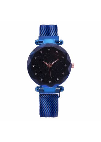 Blue color Chronographs . Milan with A Woman's Watch Pop Korean Version of Fashion Simple Magnet Buckle Lazy Star Watch Women -