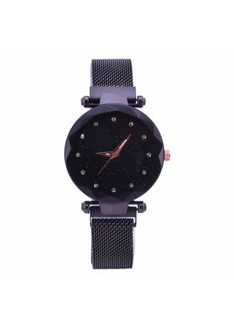 Black color Chronographs . Milan with A Woman's Watch Pop Korean Version of Fashion Simple Magnet Buckle Lazy Star Watch Women -