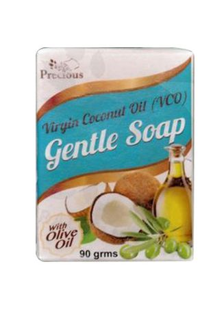 White color Body Bars . Precious Herbal Soap Virgin Coconut Oil Gentle With Olive Oil 90g -