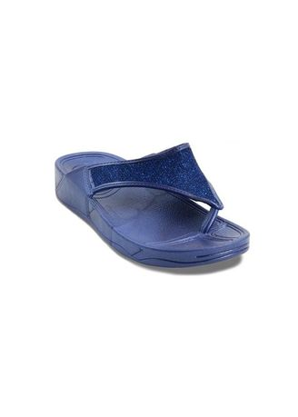 Navy color Sandals and Slippers . Khoee Women's Slides Flat Slippers -