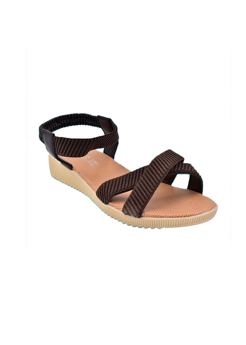 Brown color Sandals and Slippers . Khoee Women's Flat Sandals -