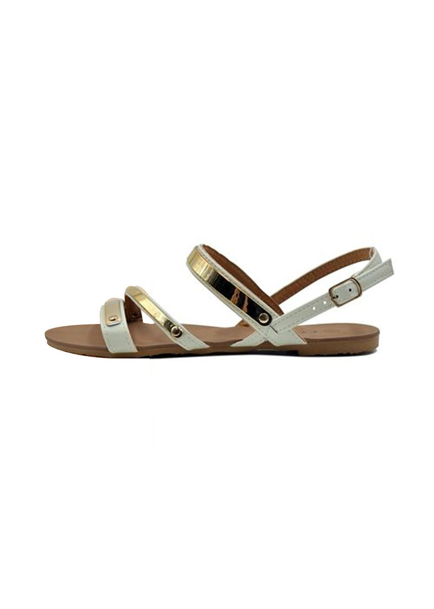 Beige color Sandals and Slippers . Khoee Women's 2 Strap Flat Sandals -