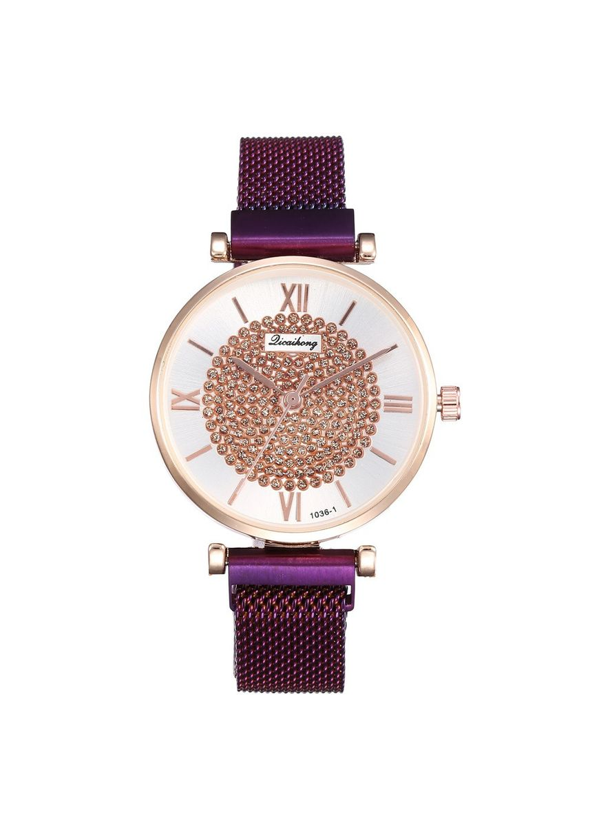 Violet color Analog . Full Star Watch Milan with Magnet clasp with Women's Fashion Student Quartz Watch -