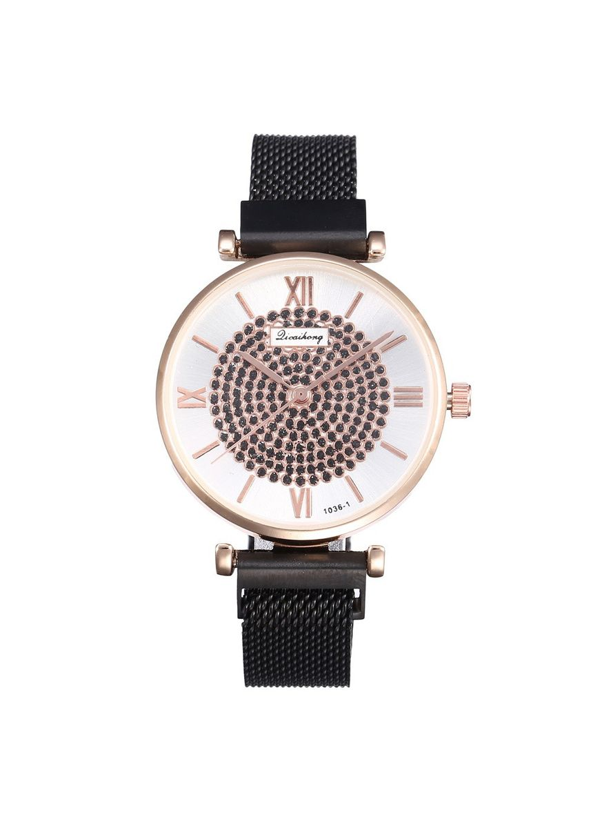 Black color Analog . Full Star Watch Milan with Magnet clasp with Women's Fashion Student Quartz Watch -