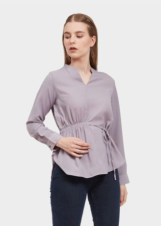 Abu-Abu color Atasan & Tunik . Morphidae Came Blouse Wanita Warna grey -