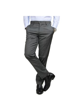 Grey color Formal Trousers . IDENTITY Men's Stylish Corporate Trousers -