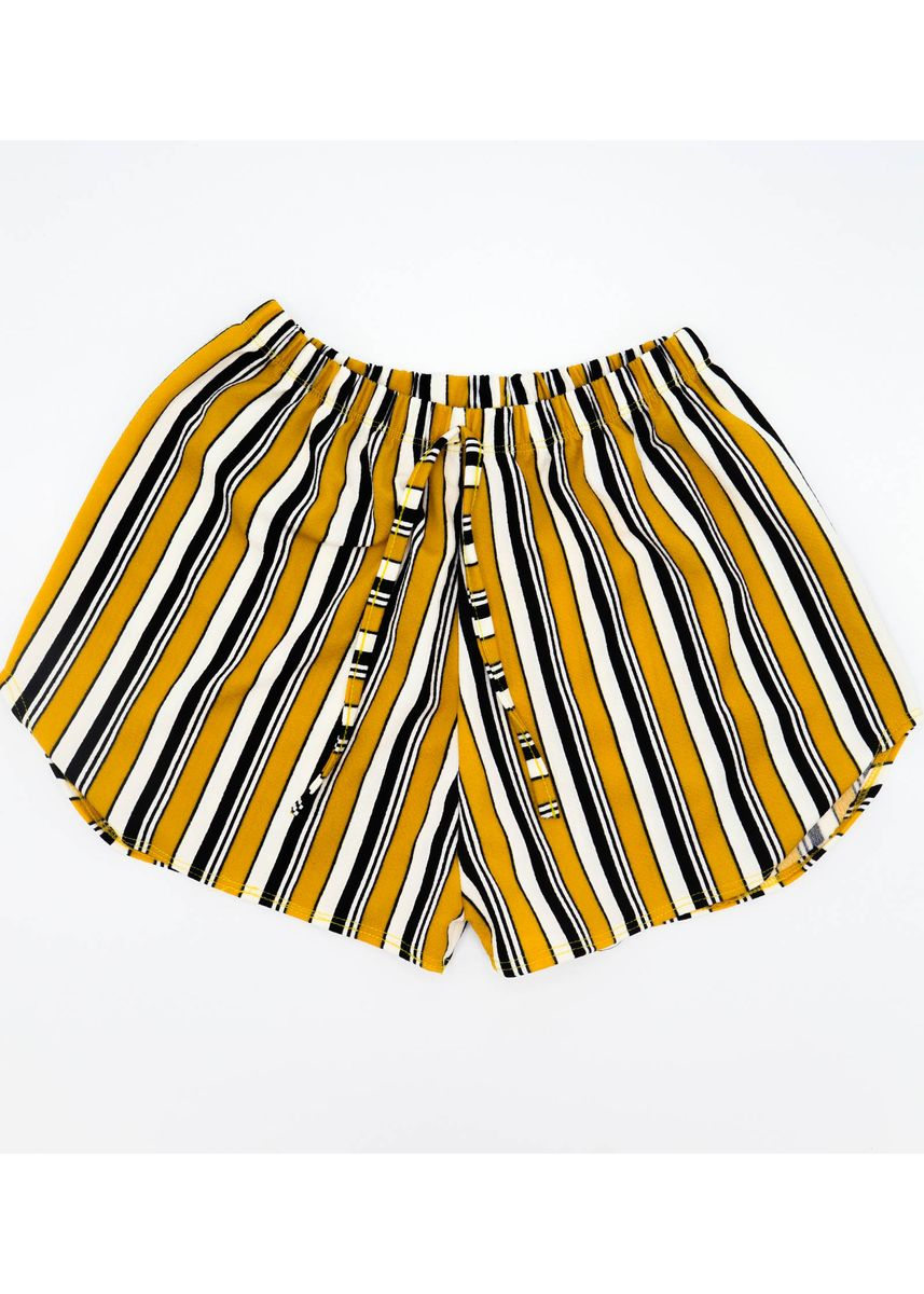 Yellow color Shorts . AC Prints Women's Summer Short -
