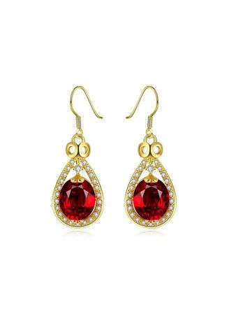 . Gold-Plated Rose Gold Earrings Female Jewelry -