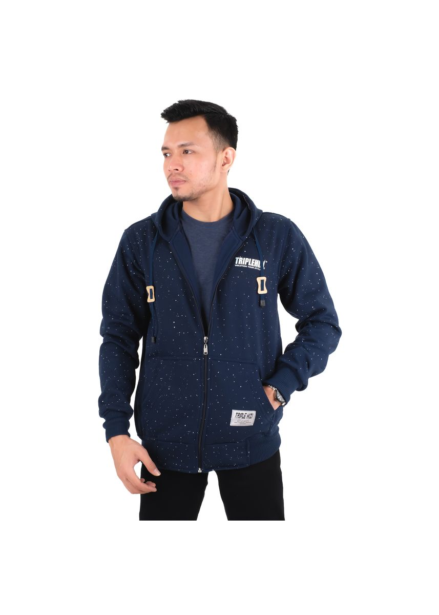 Navy color Sweaters . Jaket Sweater Hoodie Original Triple Snow Navy -