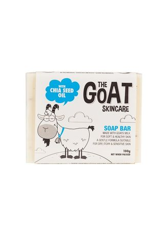 Black color Body Bars . The Goat Skincare Soap Bar With Chia Seed Oil 100g -