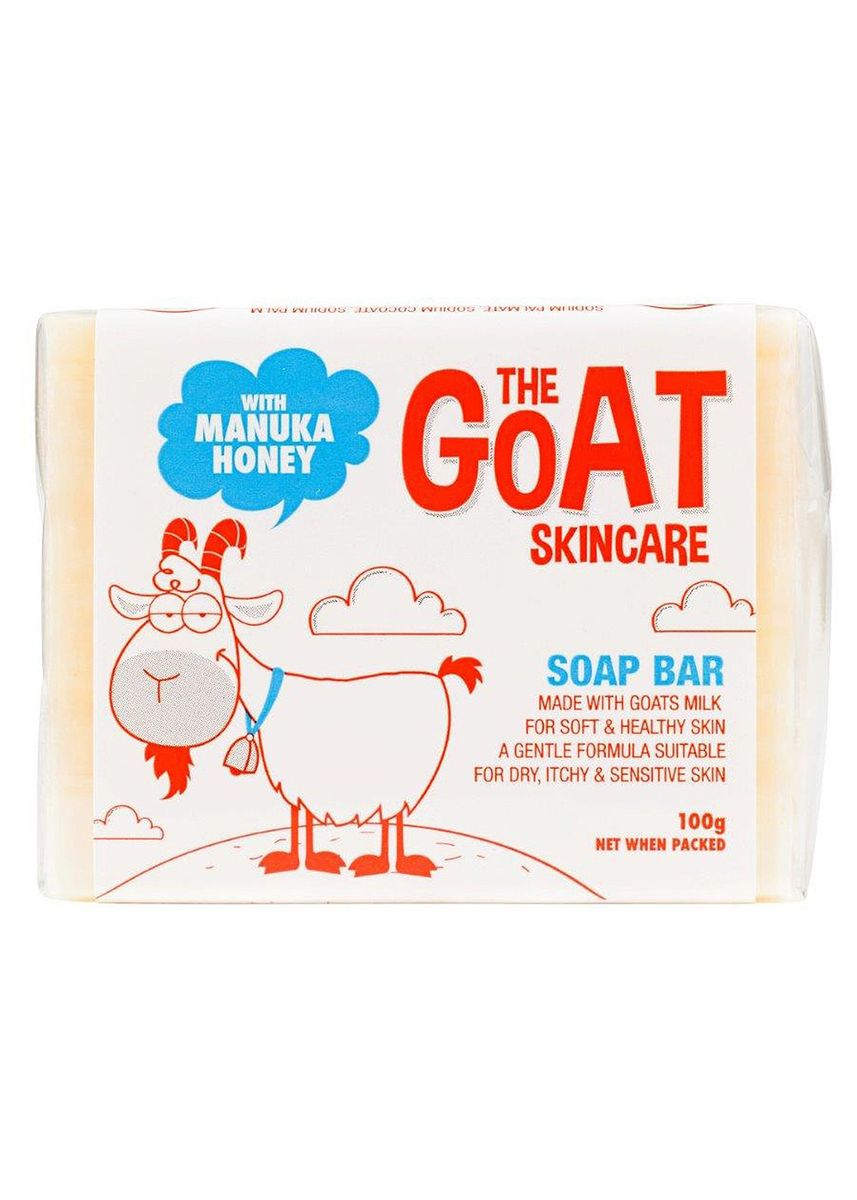 Red color Body Bars . The Goat Skincare Soap Bar With Manuka Honey 100g -