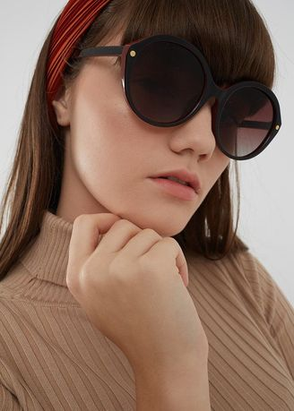 Brown color Sunglasses . Berrybenka Lidiana Decyta Round Sunglasses Brown -