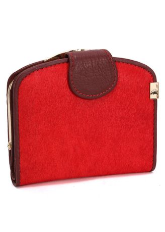 Red color Wallets and Clutches . Ma Mao Female Wallet Long Section Leather Ladies Handbag Clutch Bag -