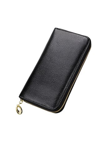 Wallets and Clutches . Women's Leather Wallet Long Section Creative Multi-card Card Package -
