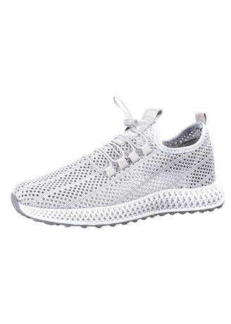 Light Grey color Sports Shoes . Hollow Sports Summer Breathable Shoes -