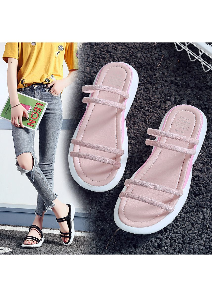 Pink color Sandals and Slippers . Sandals Women's Summer Wear Fashion -