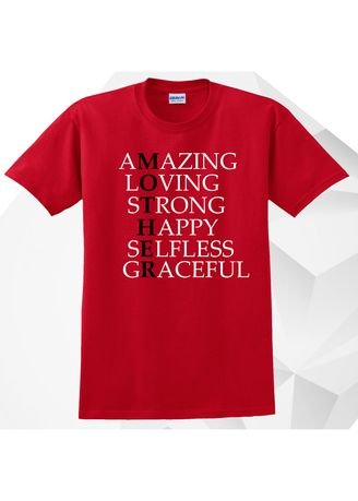Red color Tees & Shirts . AC Prints Mother's Day Gift T-Shirt -