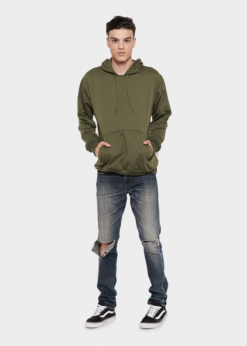 Olive color Sweaters . HOODIE Basic Sweater Hoodie Polos -