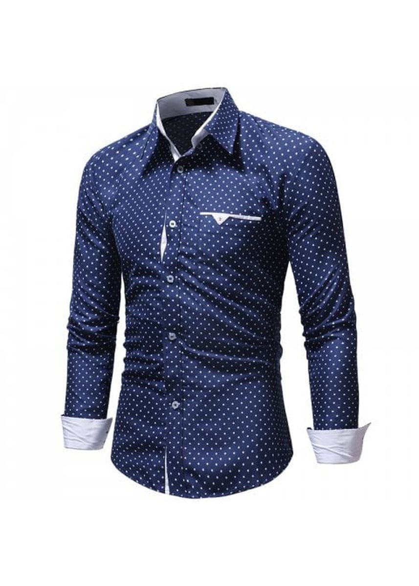 Multi color Casual Shirts . 2018 New Five-Pointed Star Print Men's Casual Slim Long-Sleeved Shirt -
