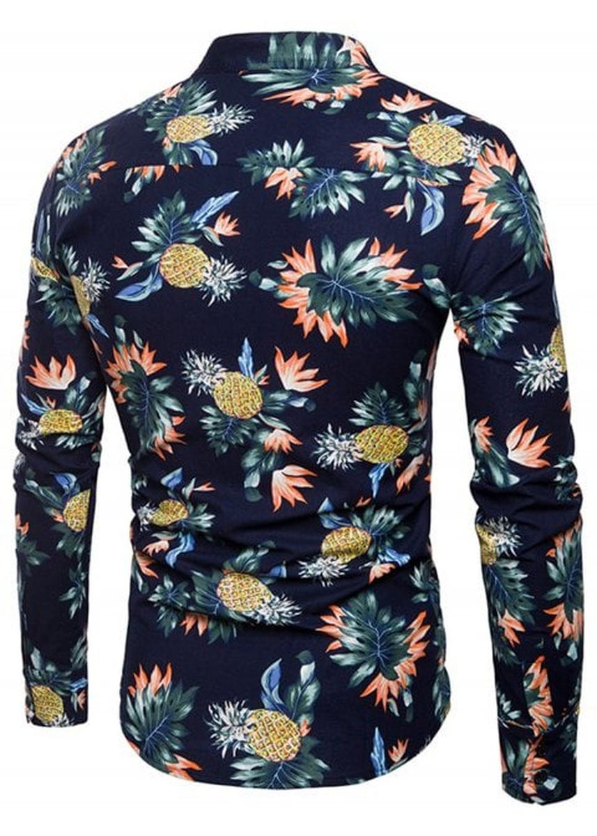 Multi color Casual Shirts . Pineapple and Floral Print Shirt -