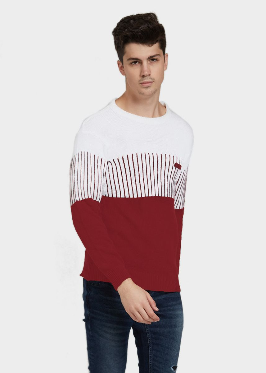 Maroon color Sweatshirts . Sweater Rajut Pria Zoro Top -