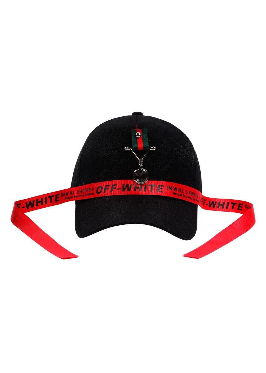 Black color  . Digisoria Lace Design Baseball Cap -