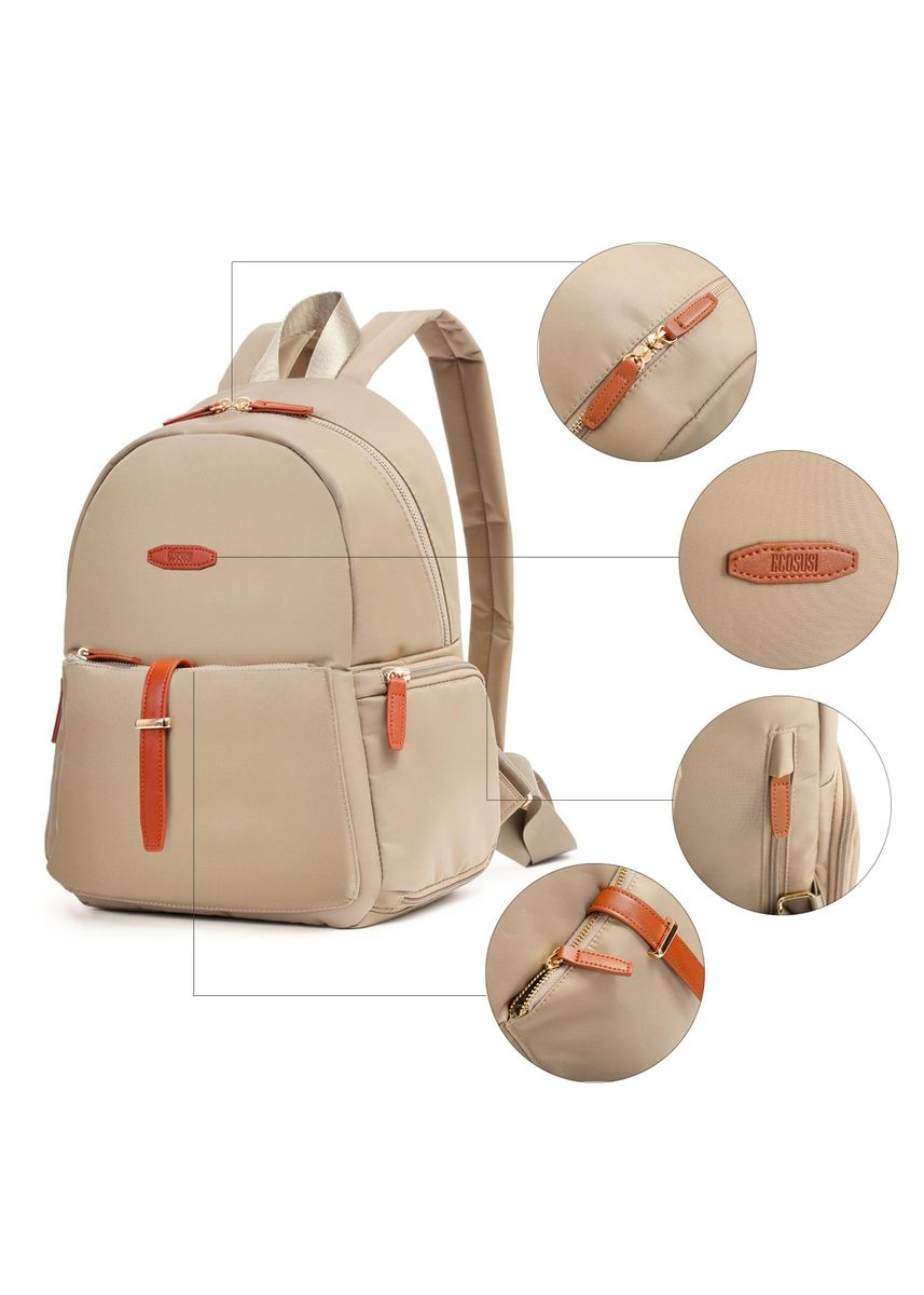Beige color Hand Bags . Ecosusi Women's Backpack -