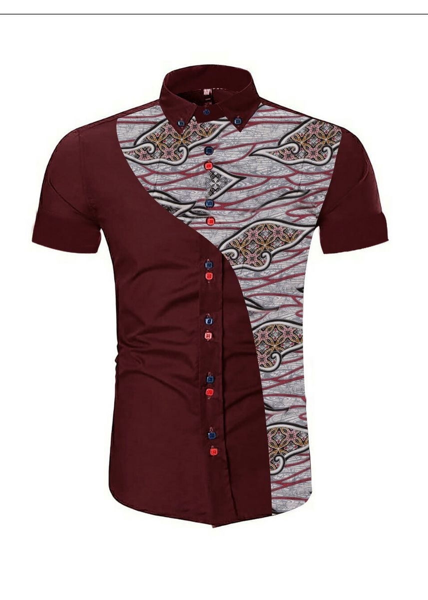 Red color Casual Shirts . BTS KEMEJA BOSTOON -