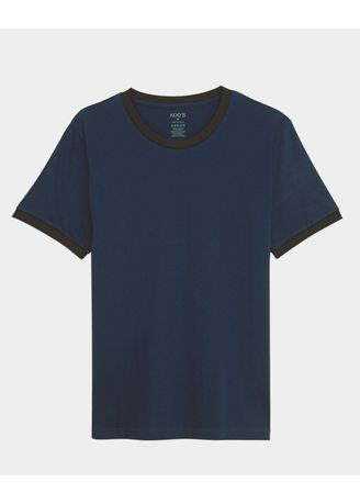 Navy color T-Shirts and Polos . เสื้อยืด Contrast Tee - Mountain Blue -