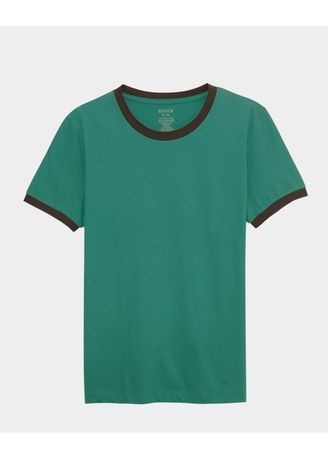 Green color T-Shirts and Polos . เสื้อยืด Contrast Tee - Persian Green -
