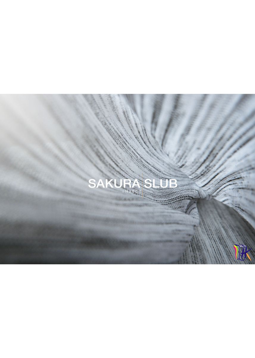 White color Cotton . SAKURA INJECT SLUB -