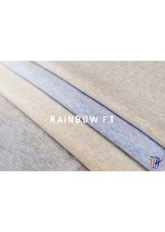 Grey color Cotton . CVC RAINBOW FLEECE -