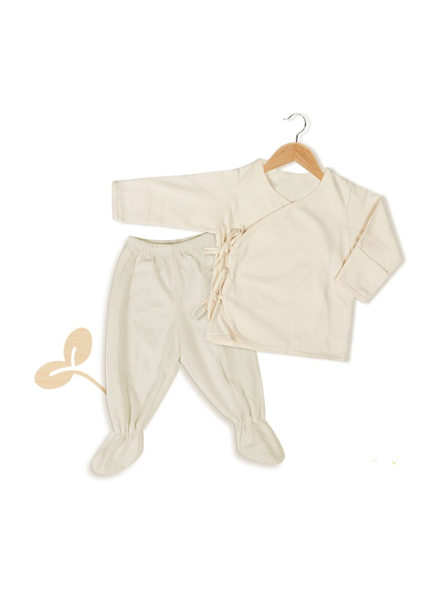 Beige color Sets . Tiny Buds Organic Cotton Baby Clothes Short Set -