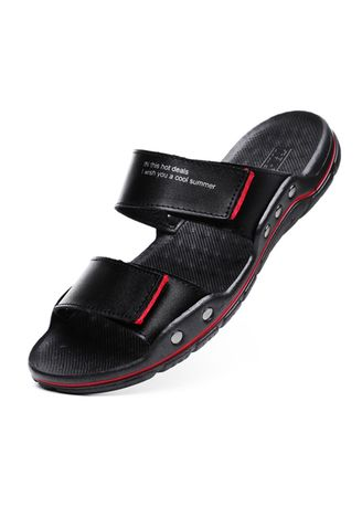 Black color Sandals and Slippers . Men's Soft Sole Flat Slipper -