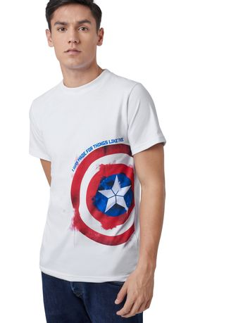 T-Shirts and Polos . Official Captain America Shield T-Shirt -