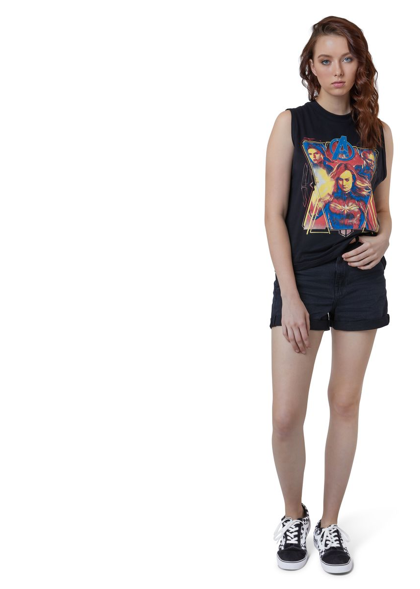 Black color Tees & Shirts . Official Super Heroine Tank Top -