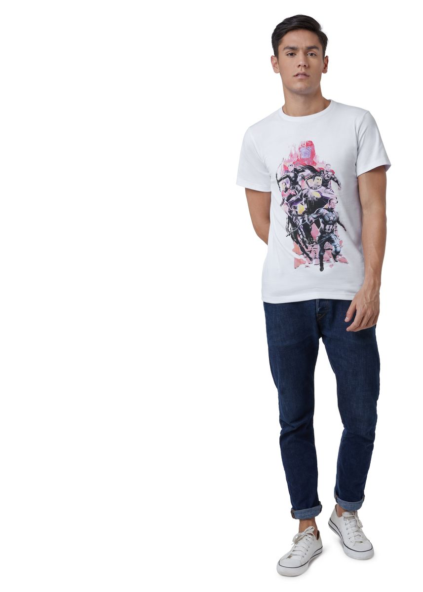 White color T-Shirts and Polos . Official Earth's Mightiest Heroes T-Shirt -