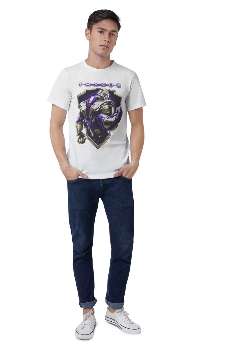 White color T-Shirts and Polos . Official Thanos Fist T-Shirt -