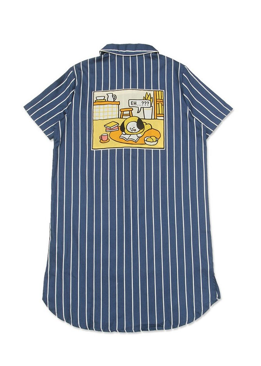 Navy color Tops and Tunics . BT21 x HUNT Short Sleeve One-piece Chimmy HIYO91201T -