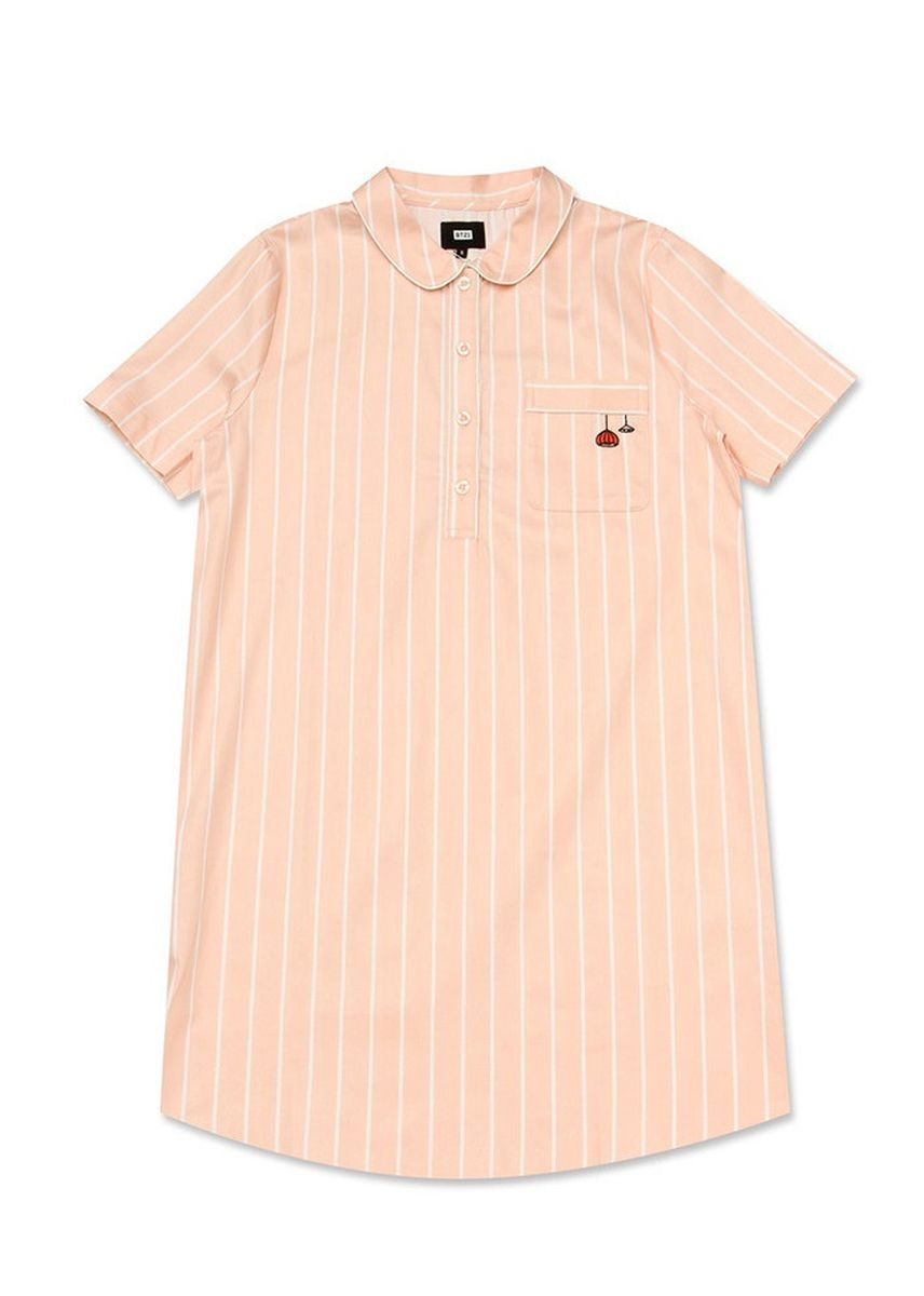 Pink color Tops and Tunics . BT21 x HUNT Short Sleeve One-piece Rj HIYO91201T -