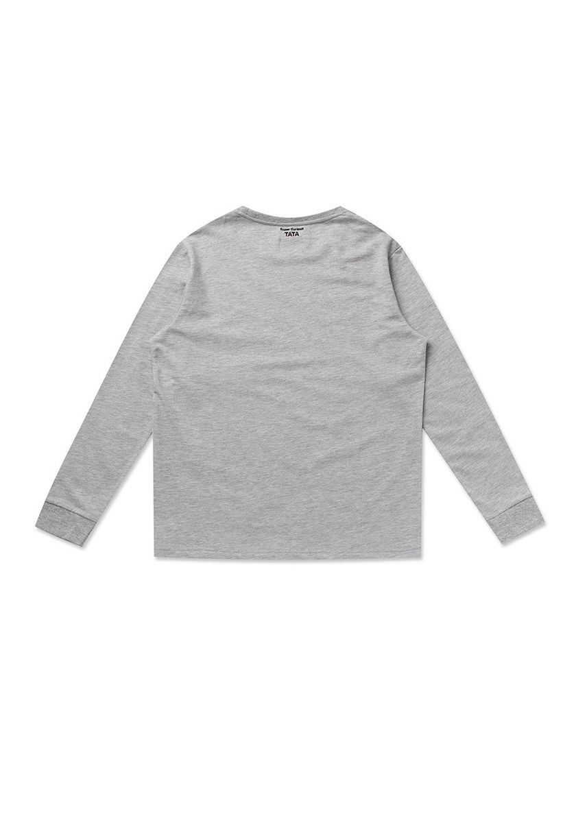 Grey color  . BT21 x HUNT Peeking Long Sleeve Tee Tata HIYH91101T -
