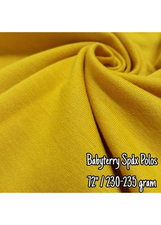 Multi color Polyester . Baby Terry Spandex Polos -