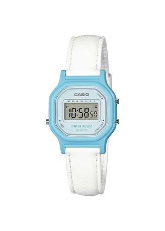 White color Digital . Casio Women's Leather Strap Digital Watch -